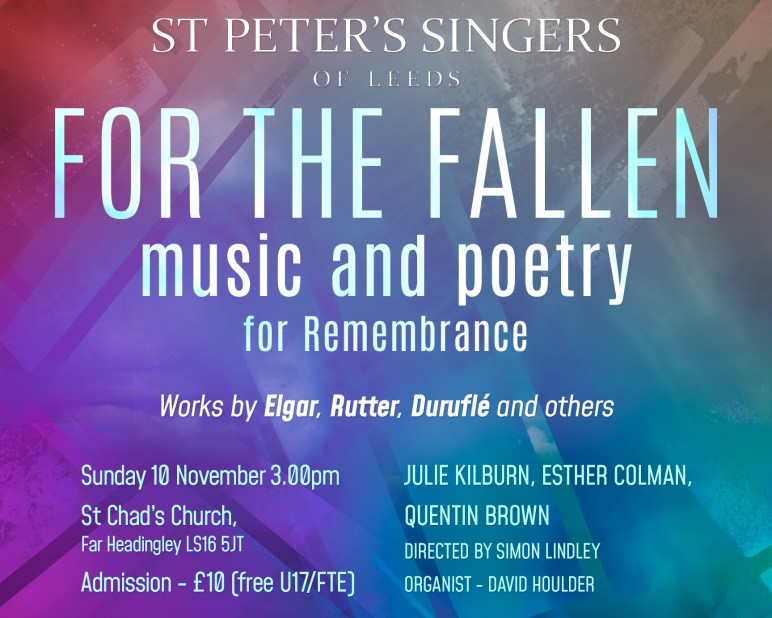 Remembrance Concert: St Chad's Far Headingley