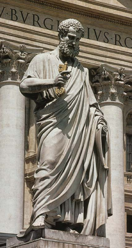 Image result for Peter with the keys, art, statues