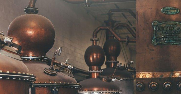 Copper Distillery Pots at St. Petersburg Distillery