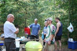 Fellowship while the food cooks
