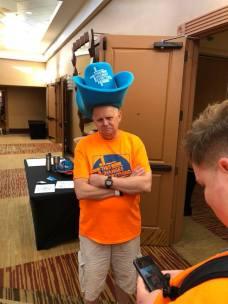 It's a big hat. It's funny.