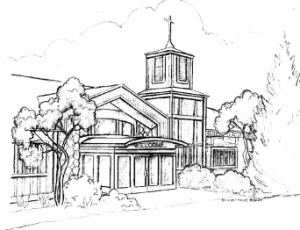 Drawing of St. Philip's Episcopal Church-Beulah