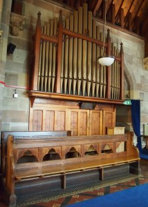 The organ at St Philip's