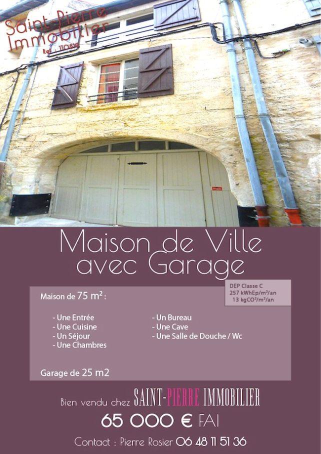 vente maison de ville garage niort