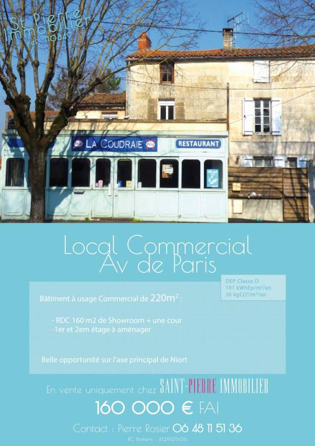 local commercial avenue de paris niort