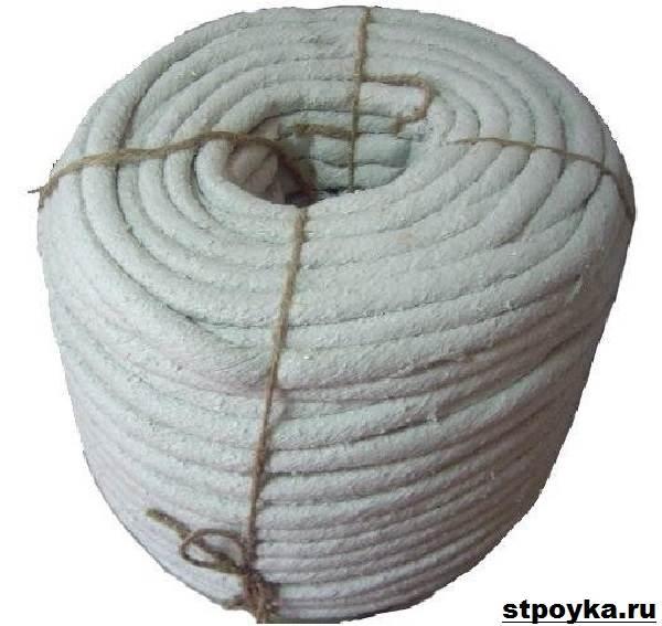 Азбестовий шнур. Властивості, застосування і ціна азбестового шнура