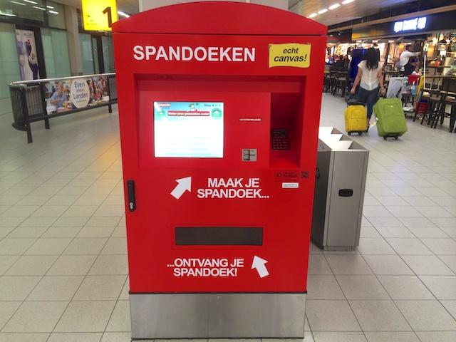 Spandoek automaat