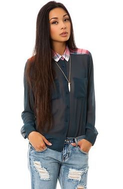 WeSc - The Jing Sheer Shirt in Midnight Blue (US$56)
