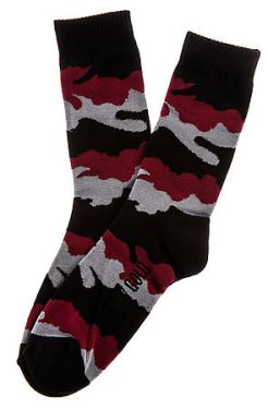 Benny Gold- The Fog Camo Socks in Red (US$10)