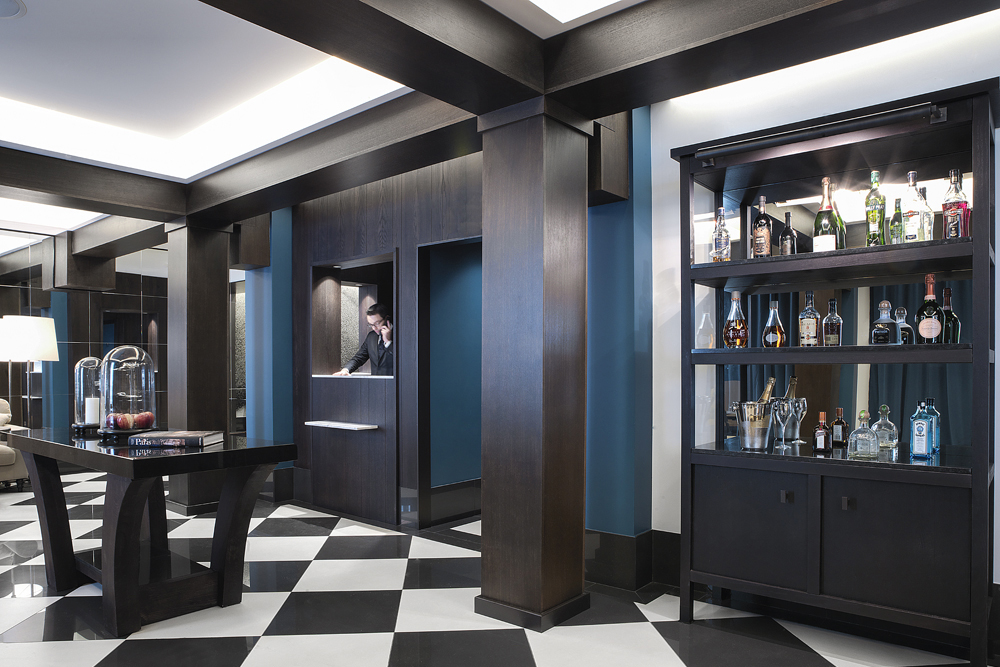 The Chess Hotel's reception beckons any traveler to make the boutique hotel their choice of stay