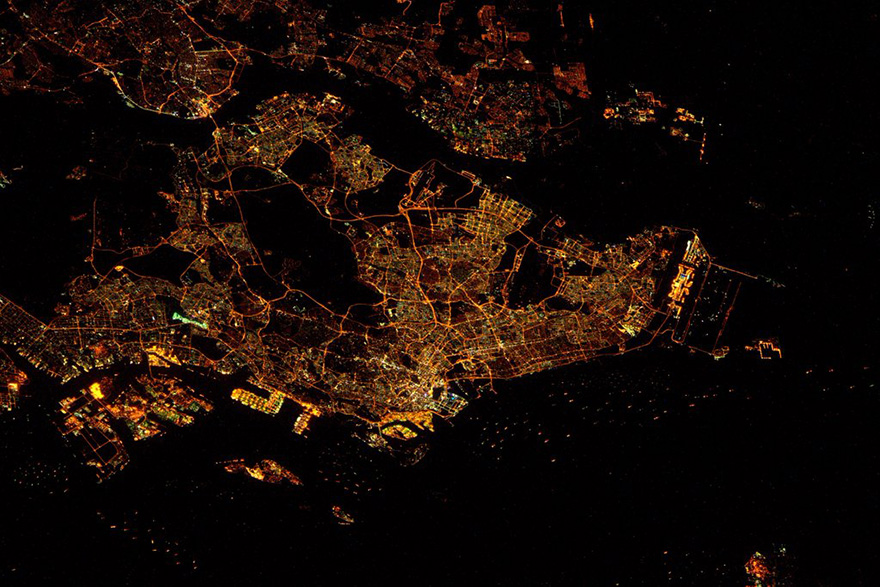 Singapore, as seen from the International Space Station