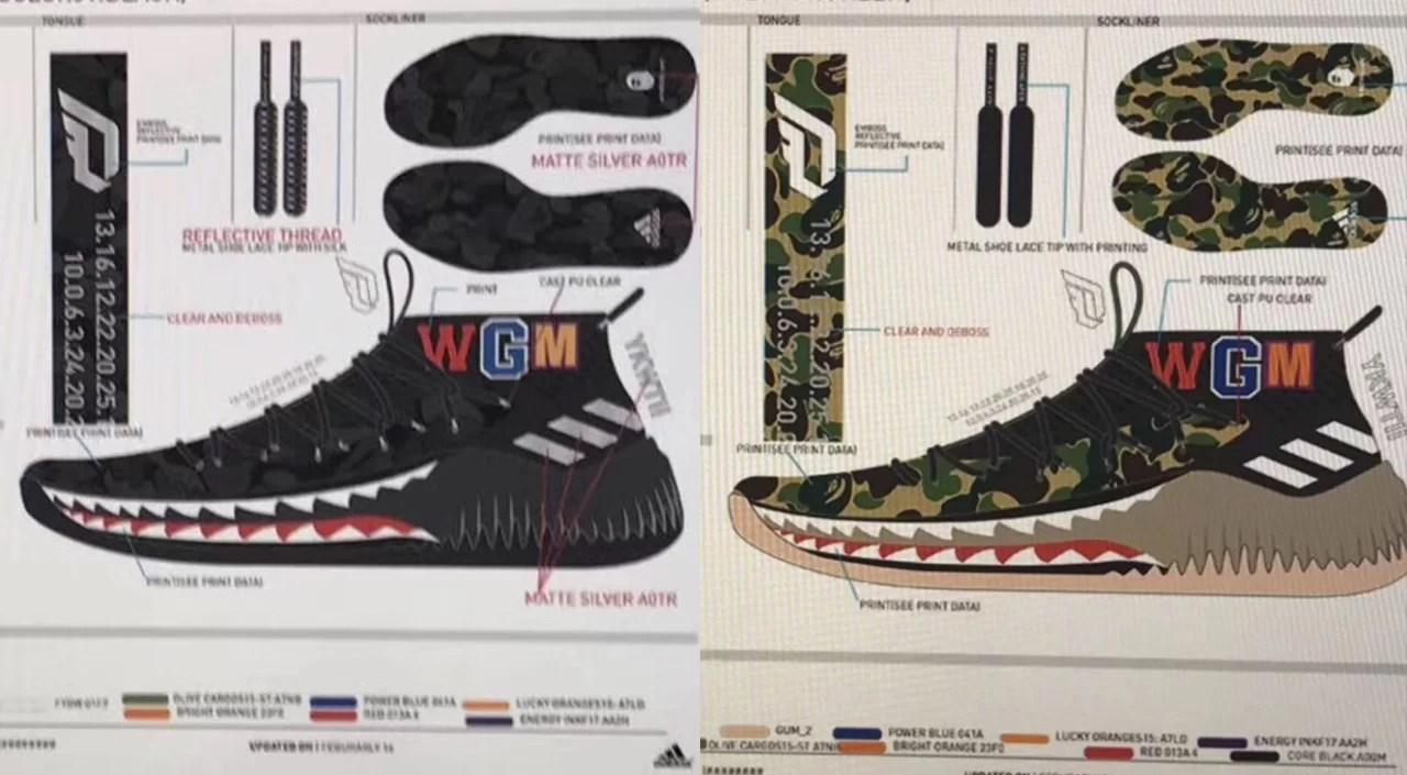 BAPE x Adidas Dame 4 Camo Pack for 2018