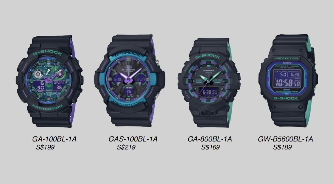 G-Shock Clear Skeleton and black-based 90s series price list