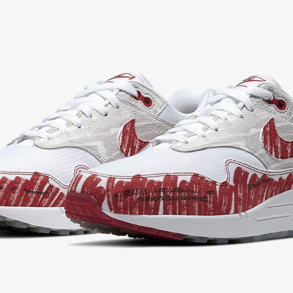The iconic Air Max 1 returns this week in its original sketch by Tinker Hatfield
