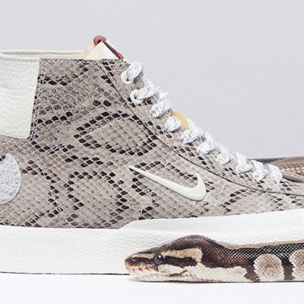 Skate on snake: Soulland delivers a Nike SB Blazer Mid collab featuring snakeskin uppers