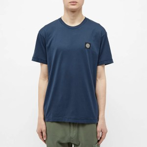 pantone 2020 blue Shopping Guide STONE ISLAND GARMENT DYED PATCH LOGO TEE END