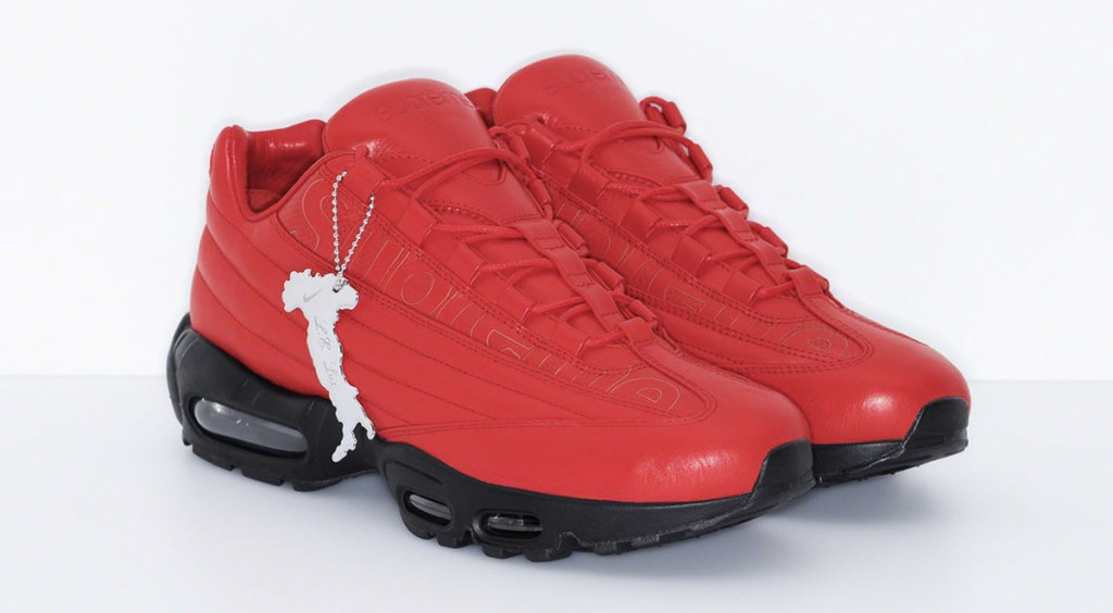 SS20 Supreme x Nike Air Force 1 Air Max 95 Lux Supreme Red