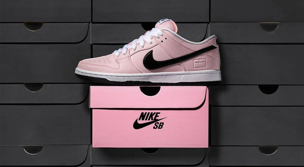 History of the Nike Dunk pink shoe box collab adrift