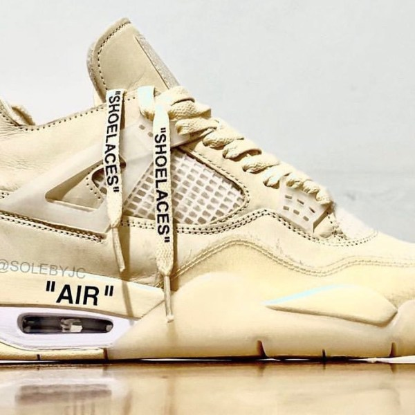 "The Off-White x Nike Air Jordan 4 ""Sail"" has a drop date!"