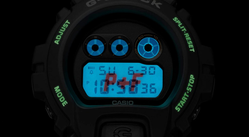 Places + Faces x G-Shock backlit screen