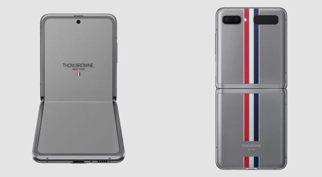 Samsung Galaxy Z Flip Thom Browne design