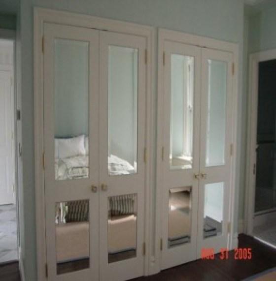 Custom Beveled Mirror Door Inserts