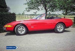 A converted ('cut') RHD Ferrari Spyder,