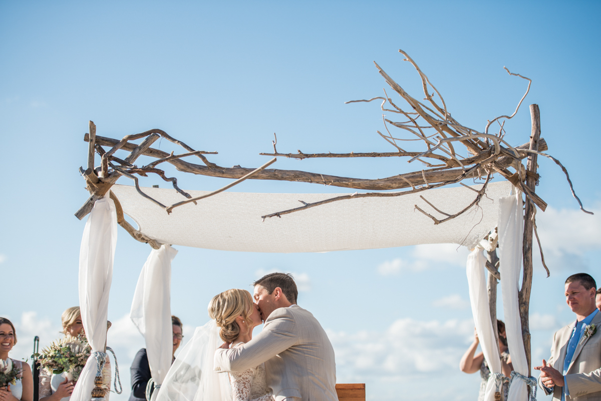 Point Lookout community hall wedding reception   Emma and Anthony wedding video   home beach ceremony