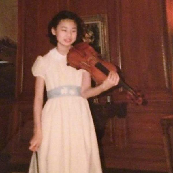 Midori with violin