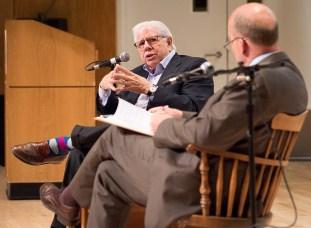 Watergate journalist Carl Bernstein at Stony Brook University.