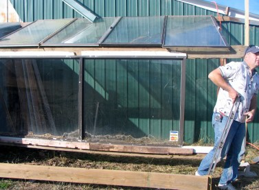 Start of the greenhouse 12