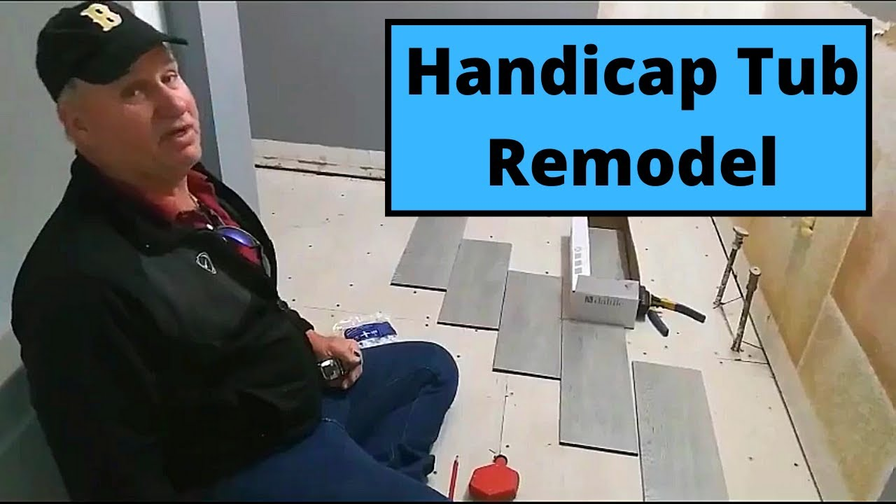 Handicap tub remodel