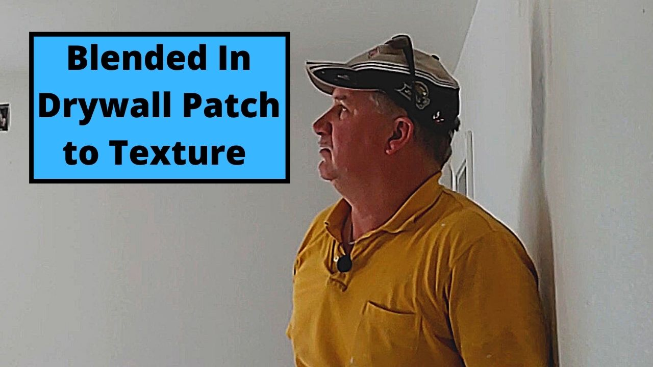 Blended In Drywall Patch to Texture
