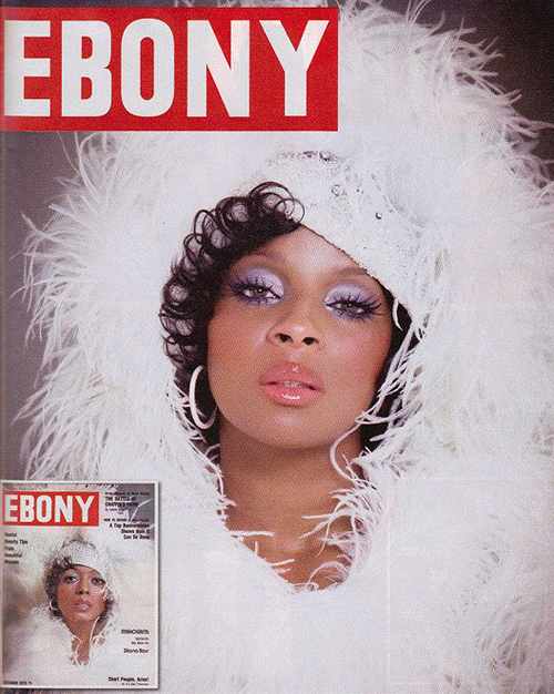 Paper magazine celebrity covers of black