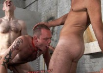 #classic: Spitroasted Dave the Slave Chokes on a Cock!