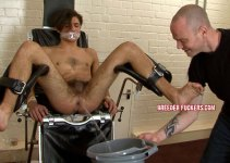 #Classic: Cute Boy Lucas gets his Asshole Shaved to prep for his Icy Enema