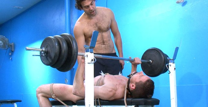 #Classic: Gym Rat Todd Forced to Pump Iron While Gagged and Roped