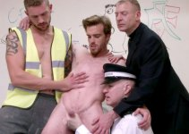 #CMNM — Horny Beast Nick Gets Jerked Off by Three Perverts