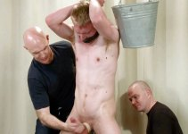 Sexy & Hung Chris Gets Choked, Probed and Wanked to Climax