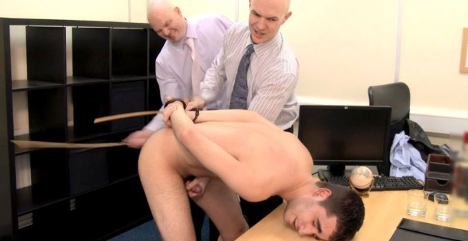 #CMNM: Hairy-Ass Russian Gets Caned and Wanked