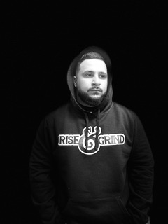 front of rise and grind hoodie