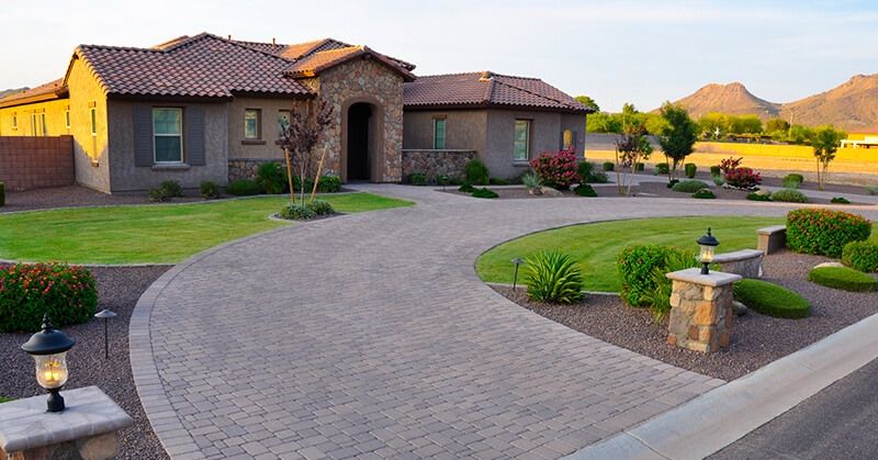 7 Phoenix Front Yard Landscaping Ideas Guaranteed To Impress | Front Yard Stairs Design | Entry | Uphill | Step | Residential | Main Door Stair