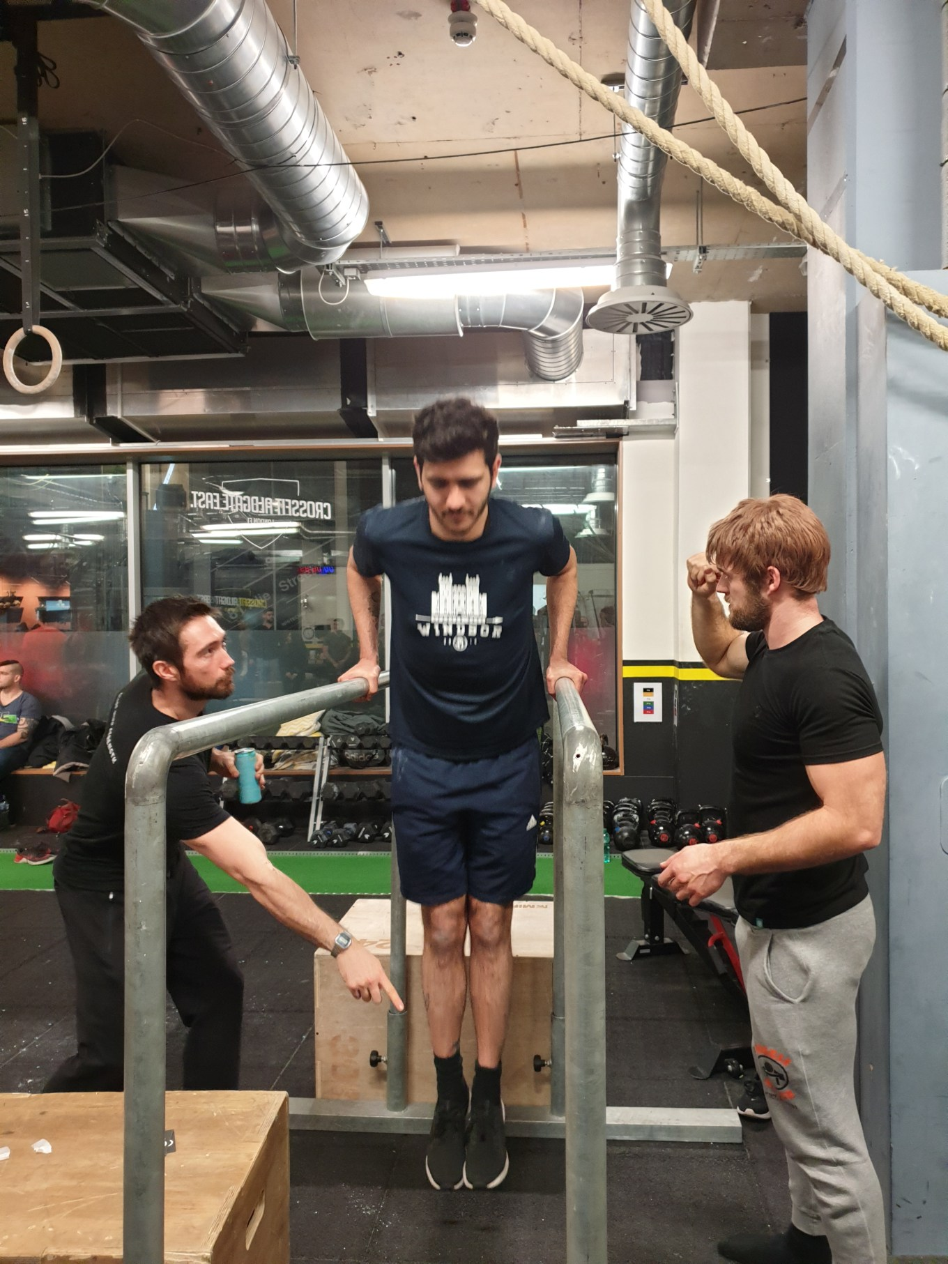 Dip action shot 1 Crossfit aldgate DEC 2019