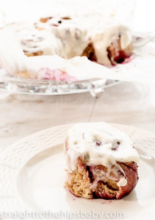 Sourdough Cinnamon Rolls with Jam