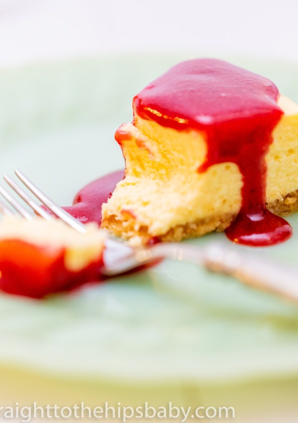 Sesame Cheesecake with Plum Coulis