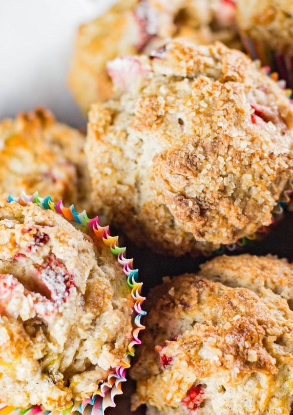 Coffeeshop Strawberry Banana Muffins