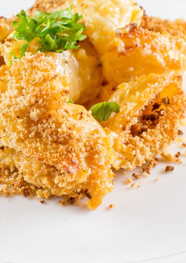 Cheddar Beer Macaroni & Cheese with Cauliflower