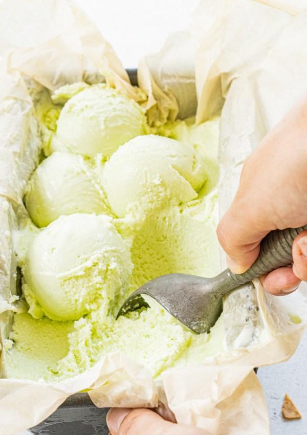 Refreshing Green Thai Basil & Lime Ice Cream