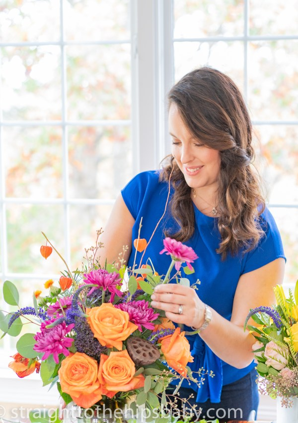 How to Create a Budget Friendly Holiday Flower Centerpiece