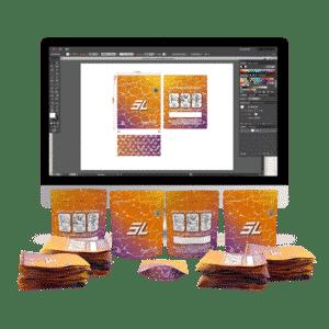Direct Print Mylar Bag Design
